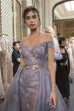 Zuhair Murad Fall 2017 Couture Fashion Show Backstage Style Haute Couture, Couture Fashion, Haute Couture Gowns, Elie Saab Couture, Valentino Couture, Valentino Dress, Evening Dresses, Prom Dresses, Formal Dresses