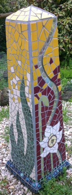 Mosaic obelisk by Helen McNab