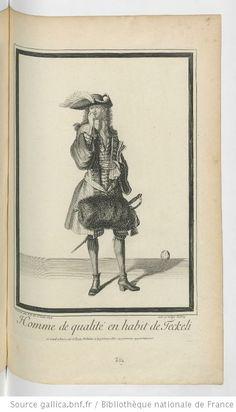 Homme de qualité en habit de Teckeli : [estampe] / dessiné par I.D. De St Jean