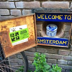 GC2TJKV is a must see if you are visiting the lovely city of #Amsterdam. What looks like an ordinary latched door, is actually a geocache. #geocaching #urban #travel