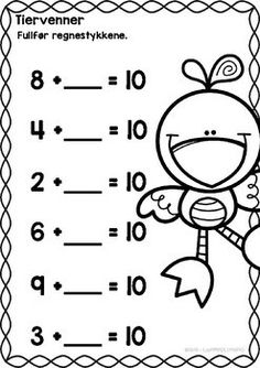 Tiervenner Math Sheets, Math For Kids, Math Lessons, Kids And Parenting, Counting, Kindergarten, Homeschool, Teaching, Words