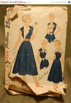 Spring Sale Simplicity 3146 Vintage 1940s by EleanorMeriwether, $11.90