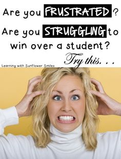 Struggling to win over your students.  Try this... Learning with Sunflower Smiles