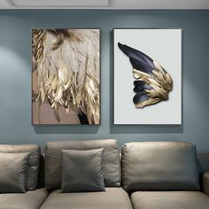 Luxury Gold Wing Wall Art Golden Feathers Shimmering Wave Fine Art Canvas Prints Nordic Pictures Living Room Bedroom Glam Home Decor Luxury Golden Feathers Wall Art Fine Art Canvas Prints Glam Wall Art Pictures, Pictures To Paint, Style Pictures, Canvas Art Prints, Canvas Wall Art, Canvas Paintings, Bedroom Canvas, Home Wall Art, Wall Art Decor