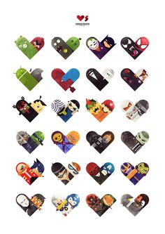 Versus / Hearts by Dan Matutina, via Behance