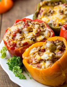 Stuffed Slow Cooker Bell Peppers