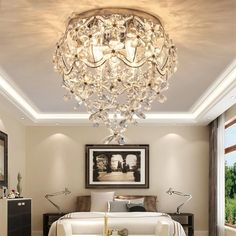 Led Lighting Home, Modern Led Ceiling Lights, Dining Room Lighting, Bedroom Lighting, Crystal Ceiling Light, Crystal Pendant Lighting, Lamp Light, Pendant Lights, Light Fixture