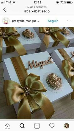 First Communion Decorations, First Communion Favors, Communion Invitations, Wedding Gifts For Guests, Wedding Favor Boxes, Diy Wedding Favors, Creative Gift Wrapping, Creative Gifts, Orchid Wedding Cake