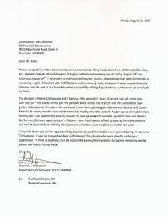 Resignation Letter Letter Of Resignation Meaning Effective