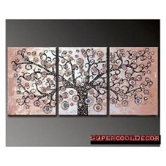 Wisdom Tree  Modern Oil Painting on Canvas Stretched with Wooden Frame  Return shipping covered for continental US regions *** You can find out more details at the link of the image.