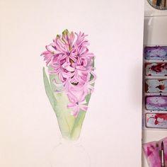 Начало нового весеннего цветочка. На сайте lectoroom.ru появился новый онлайн видео-мастер-класс по ботанической иллюстрации от Александра Вязьменского, замечательного художника, всем интересующимся ботанической иллюстрацией рекомендую к просмотру. А те кто не знаком с творчеством этого художника, должны обязательно посмотреть его работы, они чудесные. #акварель #цветы #watercolor #flowers #botanyart