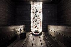 Sauna, tumma, tunnelma, valaistus, Art Deco, Amazing, Artwork, Image, Bathroom, Lighting, Decor, Bath Room, Decoration