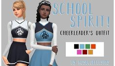 I made a lil cheerleader's outfit! It's pretty simple, some recolouring and mesh merging. - Should be BGC (please tell me if it's not) - Comes in the 7 default colours that the original cheerleader...