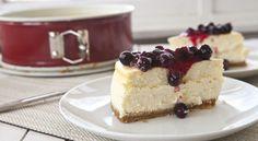Lemon Cheesecake with Blueberries - Springform Pan - gluten free graham crackers for crust
