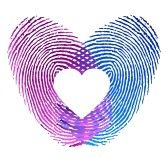 Love_symbols : Finger print of man and woman in love