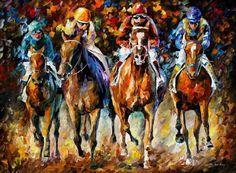 Large Horse Art  Follow The Leader  Palette by AfremovArtStudio