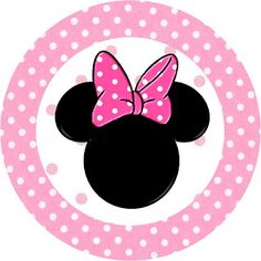 Minnie Mouse: Free Printable Toppers or Labels in pink.