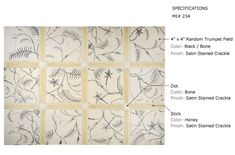 Complete Tile Collection TIEPOLO TILEWORKS - Concepts & Mosaics, , MI#: 234