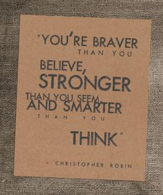 senior quote! 8 x 10 Kraft Art Print  Christopher Robin Quote by BarnhouseStudio, $14.50