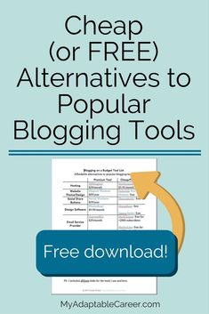 Blogging on a budget? These cheap and free blogging tools will help you grow your blog without spending a bundle.