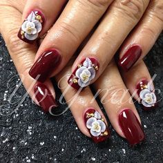 Burgundy w/ pearl roses #geloveracrylic #3droses #instanailstyle #yvynails #nailstagram #nailartdivas #nailart #nailsofinstagram #tagsforlikes #nailporn #nailcraze #nailobsession #nails #love #TagsForLikes #amazing #followme #follow4follow #like4like #look #instalike #igers #instadaily #instafollow #follow #style #swag  #nailideas #thenailartstory
