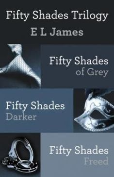 Fifty Shades Trilogy Bundle Box Set three volume collection Fifty Shades of Grey; Fifty Shades Darker; Fifty Shades Freed Written by E L James. Now available in a single volume, E L James New York Times #1 bestselling trilogy has been hailed by Entertainment Weekly as being in a class by itself. Beginning with the Good Reads Choice Award Romance Finalist Fifty Shades of Grey, the Fifty Shades Trilogy will obsess you, possess you, and stay with you forever. $52.67