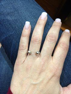 Anello modello piercing Argento