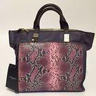 handbags borsa PIQUADRO Opera retro con fascia pelle col.base viola e base nera