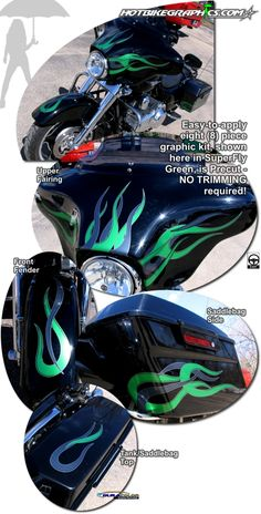 Motorcycle specific graphic kits for HarleyDavidson Ultra