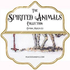 The sneak peak announcement for the new Spirited Animals #crossstitch pattern collection will be launched on March 21!! If you like snarky and subversive cross stitch patterns, you'll love this collection.