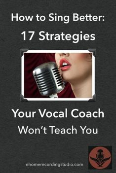 How to Sing Better: 17 Strategies Your Vocal Coach Won't Teach You Musik Vocal Lessons, Singing Lessons, Singing Tips, Music Lessons, Art Lessons, Singing Classes, Singing Quotes, Singing Exercises, Vocal Exercises