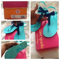 "Selling this ""Kate Spade Farren Thong Jelly Sandals."" in my Poshmark closet! My username is: _theechanel. #shopmycloset #poshmark #fashion #shopping #style #forsale #kate spade #Shoes"
