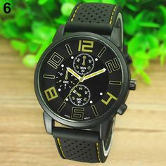 Buy Sports Touring Mens Watch: Yellow Dial. for R160.00