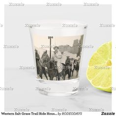 Shop Western Salt Grass Trail Ride Houston Rodeo Parade Shot Glass created by RODEODAYS. Horse Riding Pants, Trail Riding Horses, Horse Riding Quotes, Horse Riding Tips, Horseback Riding Outfits, Horseback Riding Lessons, Houston Rodeo, Drinking Water, Ride Rodeo