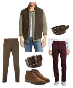 """""""Без названия #102"""" by sv-trs ❤ liked on Polyvore featuring Golden Bear, Department 5, Red Fleece By Brooks Brothers, Tod's, FOSSIL, Stacy Adams, men's fashion and menswear"""