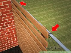 3 Ways to Add Privacy to a Chain Link Fence - wikiHow