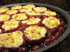 The Well-Fed Newlyweds: Cherry Cobbler Cherry Desserts, Cherry Recipes, Cherry Cake, Pie Recipes, Just Desserts, Baking Recipes, Sweet Recipes, Dessert Recipes, Morello Cherries Recipe