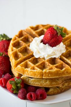 Buttermilk Waffles Recipe--The kids and I made these this morning, and they were fab! For my preferences, I cut the amount of butter in the recipe in half since we put butter on top of the toasted waffles. I also always add a pinch of ground cardamom. Yum.