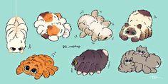 Cute Fantasy Creatures, Mythical Creatures Art, Cute Creatures, Cute Animal Drawings Kawaii, Kawaii Drawings, Cute Drawings, Creature Drawings, Creature Concept Art, Pretty Art