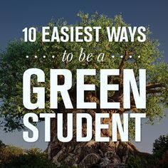 being a green student? its easy..  it will benefit not only your own self but as well as your family, friends, enemy and the whole community ..