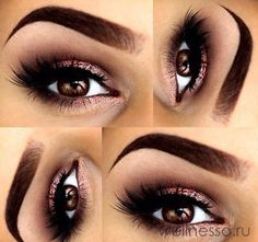 If you'd like to enhance your eyes and also improve your natural beauty, using the best eye make-up recommendations can help. You want to be sure to wear make-up that makes you start looking even more beautiful than you already are. Gorgeous Makeup, Pretty Makeup, Love Makeup, Makeup Inspo, Makeup Inspiration, Amazing Makeup, Makeup Trends, Smokey Eye Makeup Look, Gold Smokey Eye
