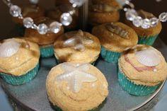 Cute seashell cupcakes #mermaids #cupcakes #underthesea