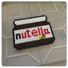 Nutella hama perler beads by christina_eats