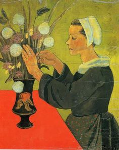 Paul Sérusier, Breton with bouquet, c.1891/ 1893, Oil on canvas, 73 x 59,5 cm, Petit Palais, Paris