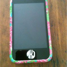 Lilly case and monogram sticker