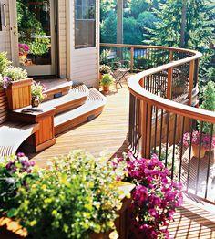 This curvy dream deck has three gorgeous levels. Tour it here: http://www.bhg.com/home-improvement/deck/ideas/multilevel-deck-with-curves/?socsrc=bhgpin062112