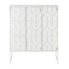 Cabinet de rangement en métal blanc L 102 cm Iconik | Maisons du Monde