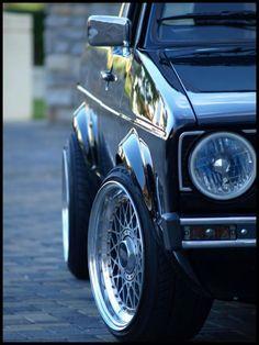 Beautiful BBS wheels on a beautiful Golf Mk1