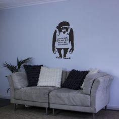 Banksy Monkey Vinyl Wall Decal