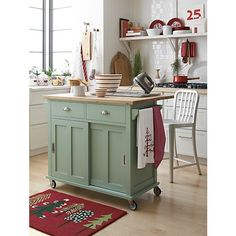 Belmont Mint Kitchen Island in Kitchen Islands & Carts | Crate and Barrel